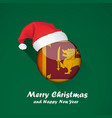 flag of sri lanka merry christmas and happy new vector image