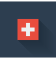 Flat flag of Switzerland vector image