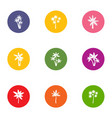 floret icons set flat style vector image