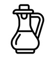 food vinegar icon outline style vector image vector image