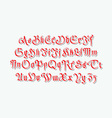 gothic retro style font with grunge vector image vector image