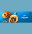 happy halloween sale banner template vector image