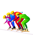 Ice-skaters vector image vector image