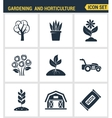 Icons set premium quality of gardening and vector image vector image