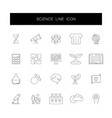 line icons set science pack vector image vector image