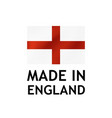 made in england label tag template vector image vector image