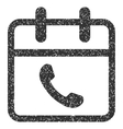 Phone Support Day Grainy Texture Icon vector image vector image