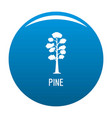 pine tree icon blue vector image vector image
