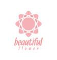 pink flower logo design inspiration vector image vector image