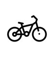 public transport bicycle thin line icon vector image vector image