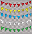 rainbow bunting banner garland isolated on white vector image vector image