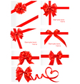 red gift ribbons vector image vector image