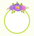 round border blooming springtime flowers vector image vector image