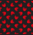 seamless hand-drawn hearts pattern vector image