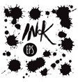 set black ink blots vector image