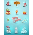 set christmas elements vector image
