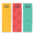 set of three colorful graphic vertical banners vector image vector image