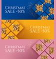 set three christmas sale banners design vector image vector image