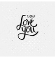 Simple Love You Concept with Winged Heart vector image vector image