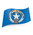 State flag of Northern Mariana Islands vector image vector image