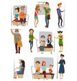 Subway People Set vector image vector image