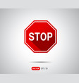traffic stop sign icon logo vector image