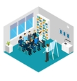 Training Isometric Prople Composition vector image