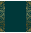 turquoise gold ornate border vector image