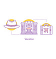 vacation concept icon vector image vector image