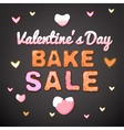 Valentine Bake Sale 01 A vector image vector image