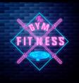 vintage fitness gym emblem vector image vector image