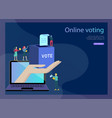 voting and election concept pre-election campaign vector image