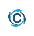 water clean service abbreviation letter c vector image vector image