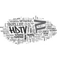 what is hdtv text word cloud concept vector image vector image