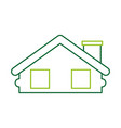 wooden cabin house chimney camp exterior vector image vector image