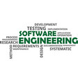 word cloud - software engineering vector image vector image