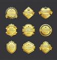 set of golden labels best choice premium quality vector image