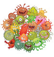 the accumulation of bacteria vector image