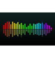 Colorful Graph on Black Background vector image