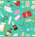 medical instruments doctor tools medicament vector image