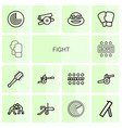 14 fight icons vector image vector image