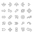 25 outline universal Arrows icons vector image