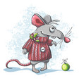 a cute cartoon mouse vector image vector image