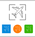 airplanes thin outline icon vector image