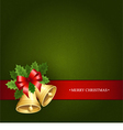 Beautiful background with the Christmas bells vector image vector image
