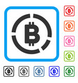 bitcoin diagram framed icon vector image vector image