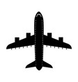 black icon airplane cartoon vector image