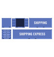 blue shipping cargo metal container from different vector image vector image