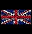 british flag mosaic of coffee bean items vector image vector image