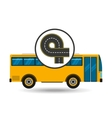 bus transport public endless road vector image